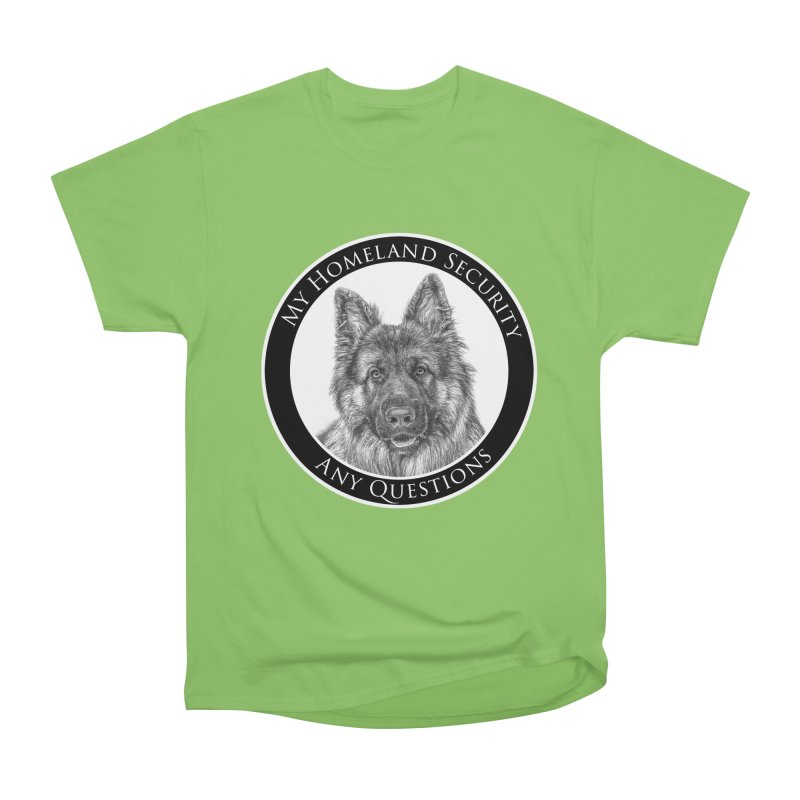 My homeland security Men's Heavyweight T-Shirt by Andy's Paw Prints Shop