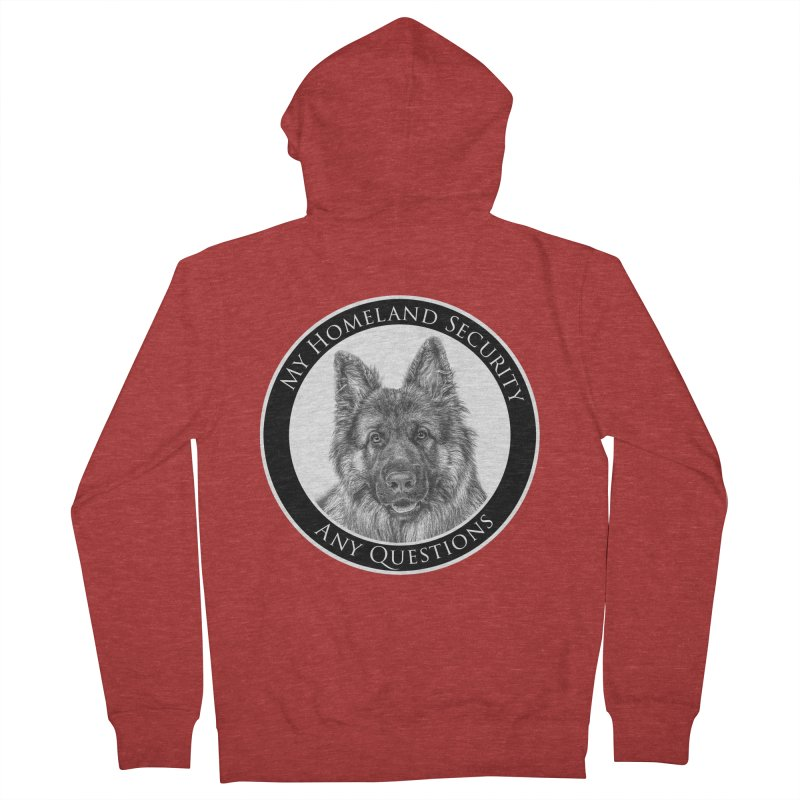 My homeland security Women's French Terry Zip-Up Hoody by Andy's Paw Prints Shop