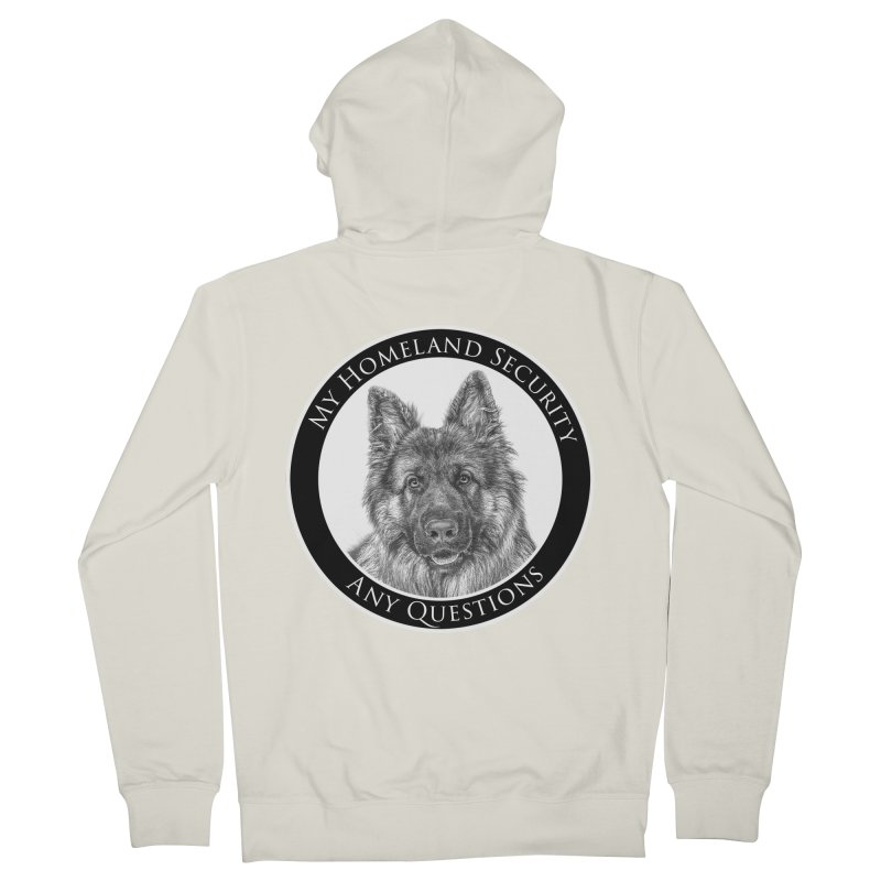 My homeland security Men's French Terry Zip-Up Hoody by Andy's Paw Prints Shop