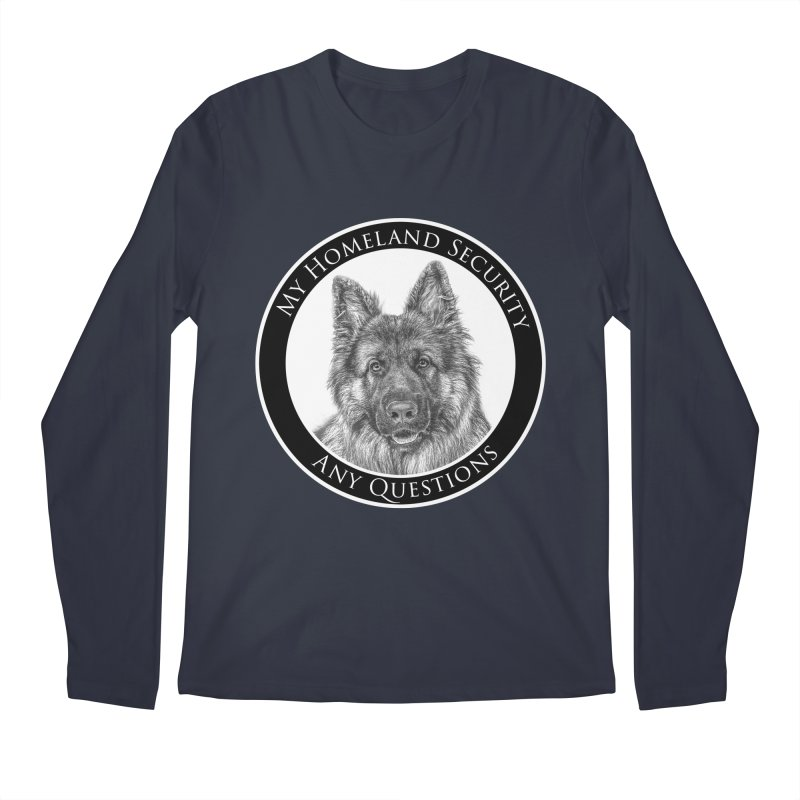 My homeland security Men's Regular Longsleeve T-Shirt by Andy's Paw Prints Shop