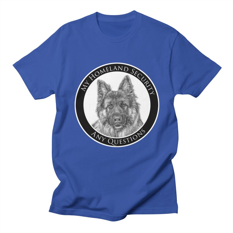 My homeland security Men's Regular T-Shirt by Andy's Paw Prints Shop