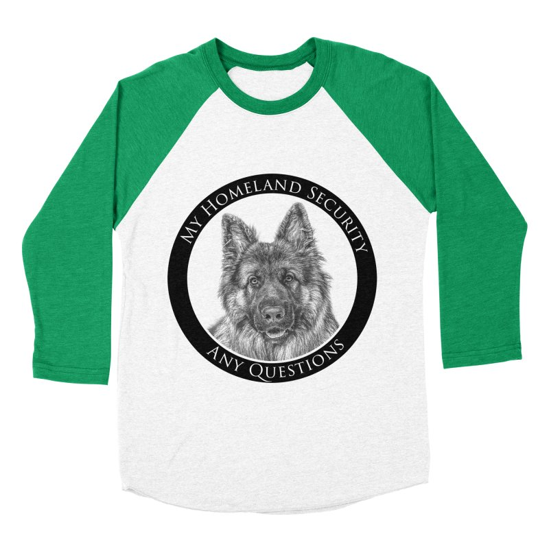 My homeland security Men's Baseball Triblend Longsleeve T-Shirt by Andy's Paw Prints Shop