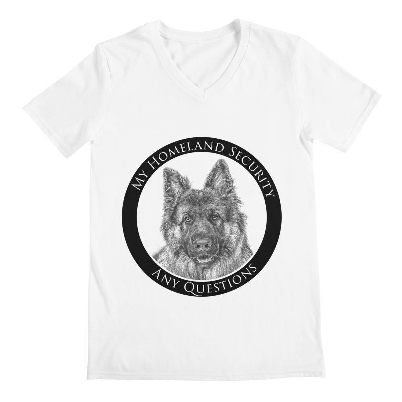 My homeland security Men's V-Neck by Andy's Paw Prints Shop