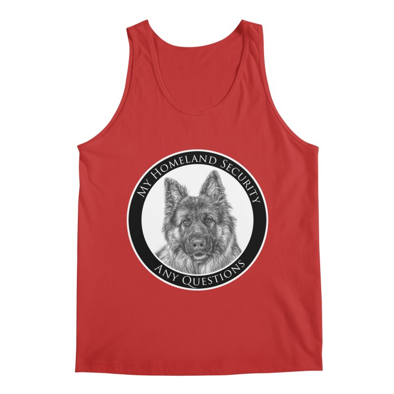 My homeland security Men's Regular Tank by Andy's Paw Prints Shop