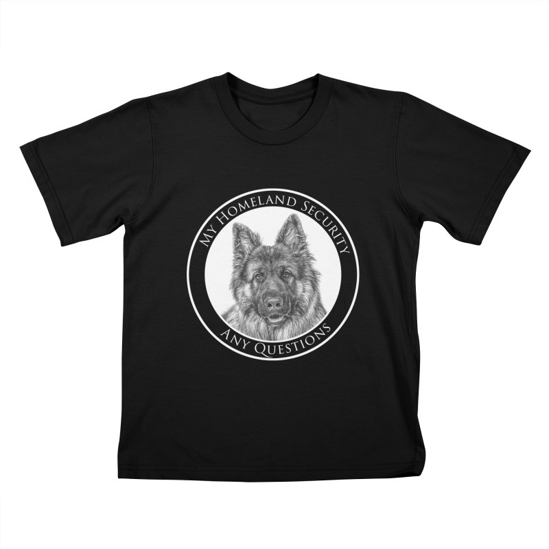 My homeland security Kids T-Shirt by Andy's Paw Prints Shop