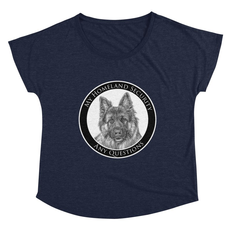 My homeland security Women's Dolman Scoop Neck by Andy's Paw Prints Shop