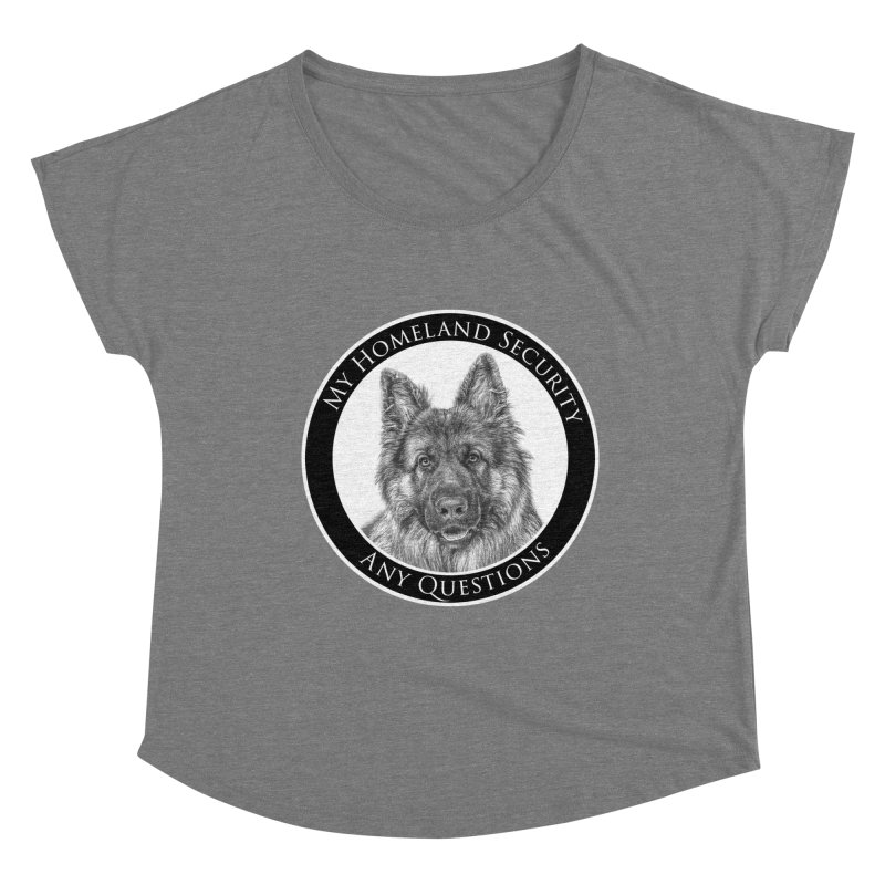 My homeland security Women's Scoop Neck by Andy's Paw Prints Shop