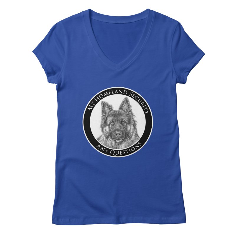My homeland security Women's Regular V-Neck by Andy's Paw Prints Shop