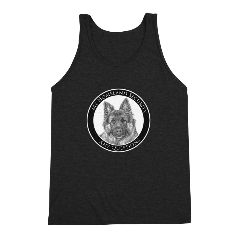 My homeland security Men's Triblend Tank by Andy's Paw Prints Shop