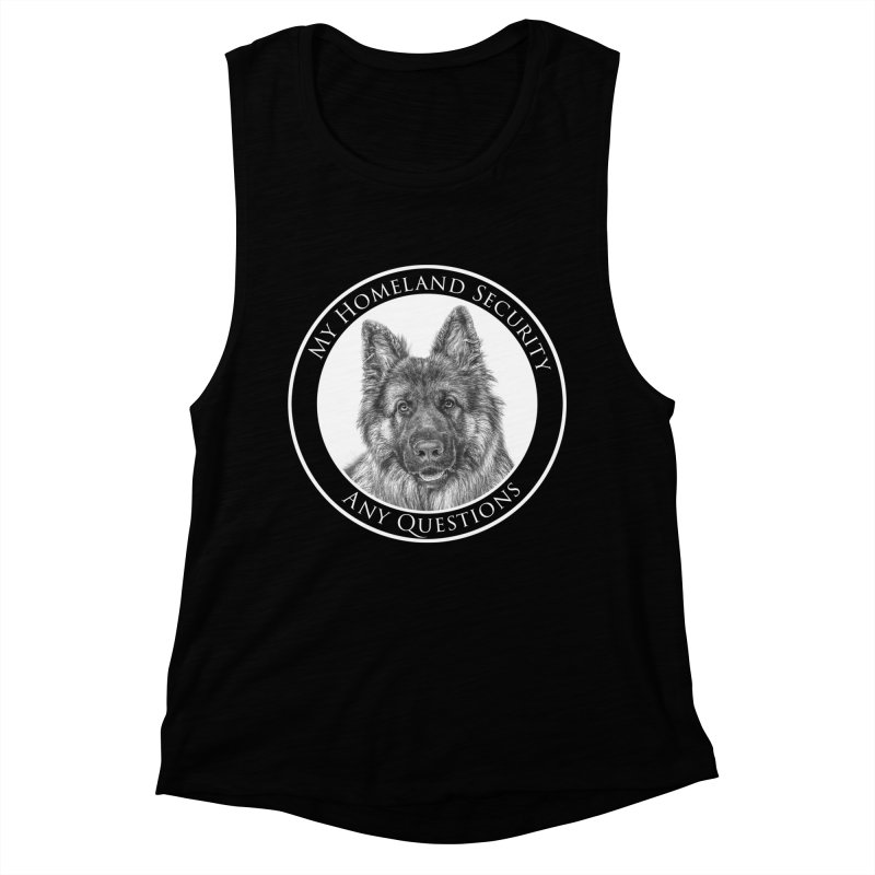 My homeland security Women's Muscle Tank by Andy's Paw Prints Shop
