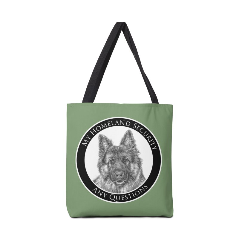 My homeland security Accessories Tote Bag Bag by Andy's Paw Prints Shop