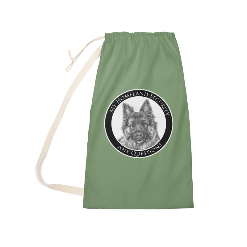 My homeland security Accessories Laundry Bag Bag by Andy's Paw Prints Shop