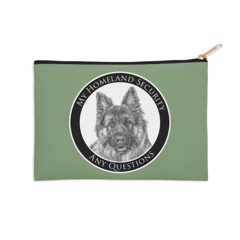 My homeland security Accessories Zip Pouch by Andy's Paw Prints Shop