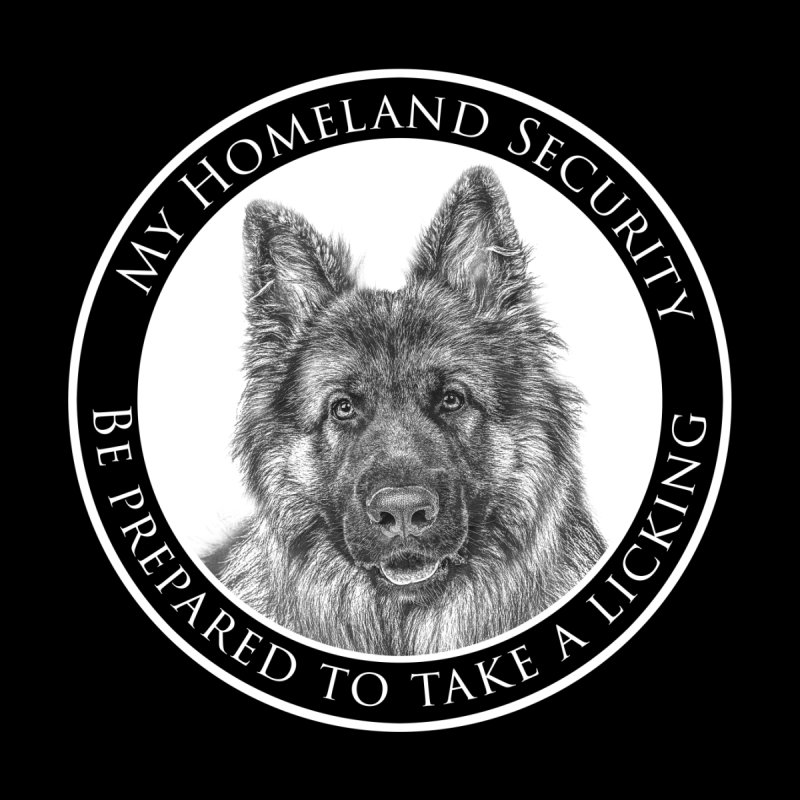 Homeland security licking Men's V-Neck by Andy's Paw Prints Shop