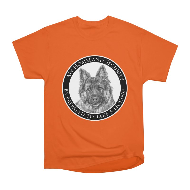 Homeland security licking Men's T-Shirt by Andy's Paw Prints Shop