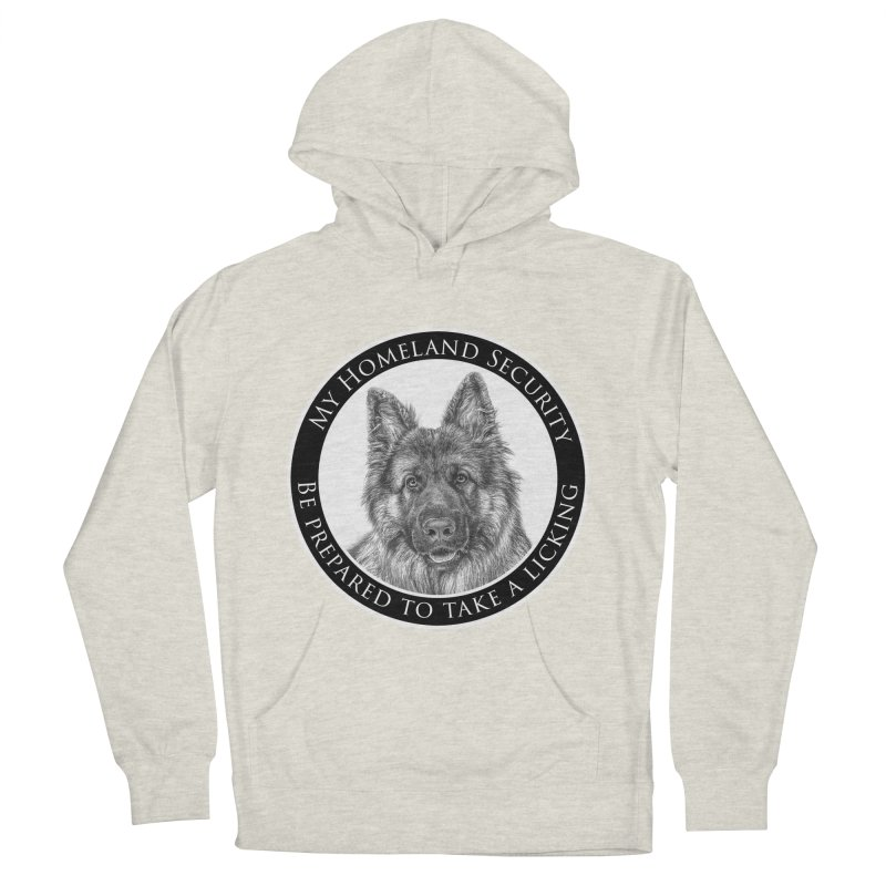 Homeland security licking Men's French Terry Pullover Hoody by Andy's Paw Prints Shop