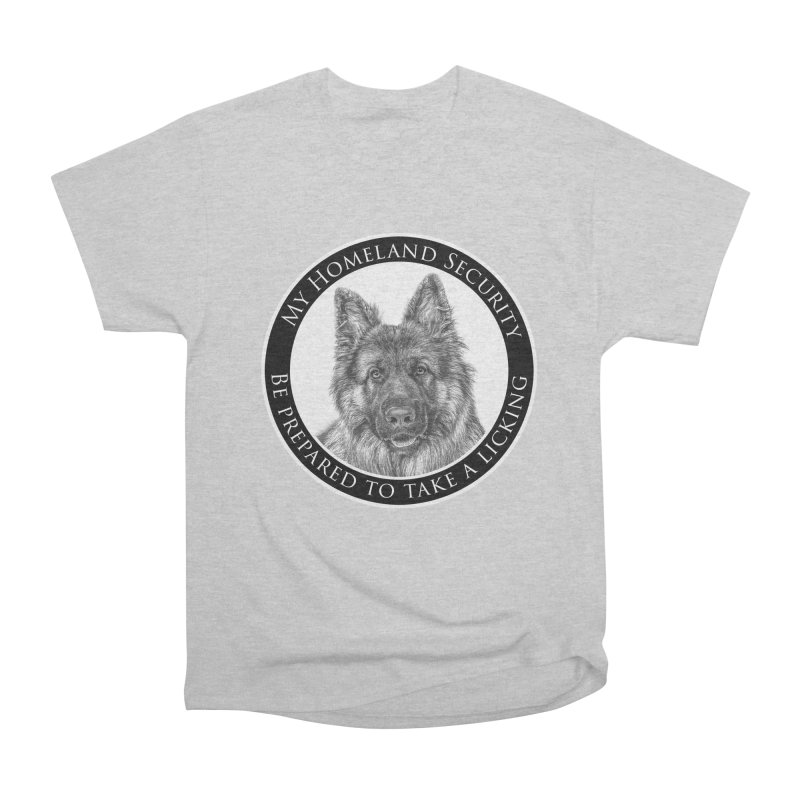 Homeland security licking Men's Heavyweight T-Shirt by Andy's Paw Prints Shop