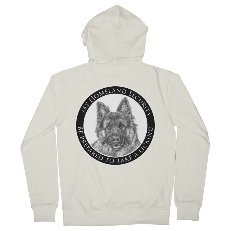 Homeland security licking Women's French Terry Zip-Up Hoody by Andy's Paw Prints Shop