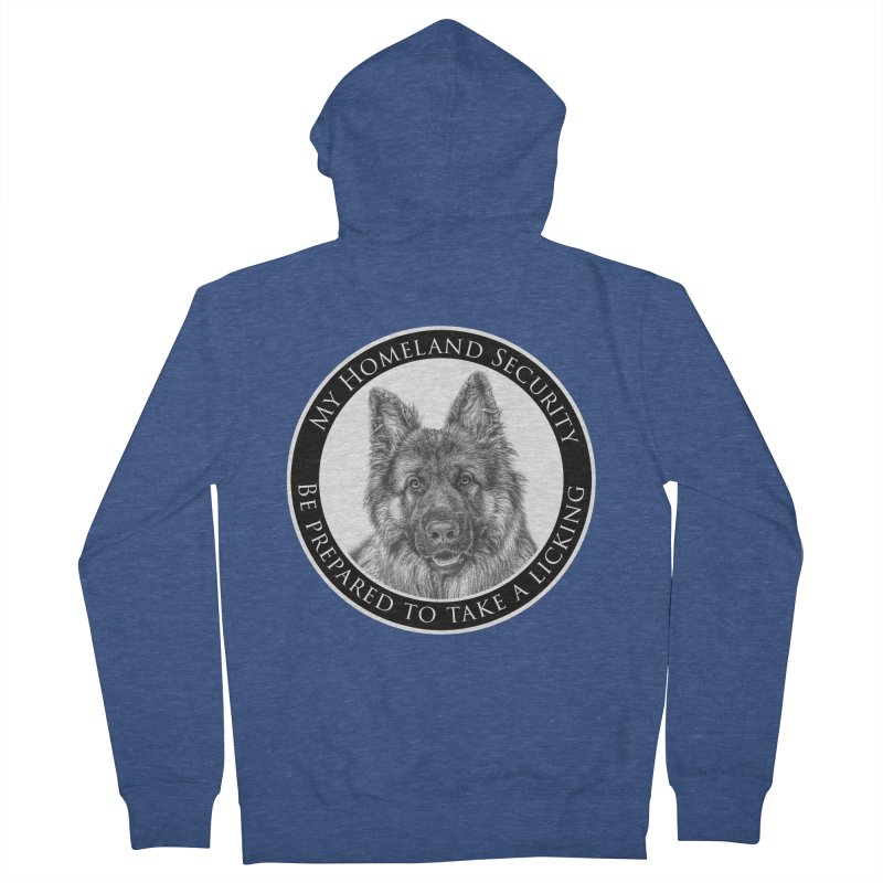 Homeland security licking Men's French Terry Zip-Up Hoody by Andy's Paw Prints Shop