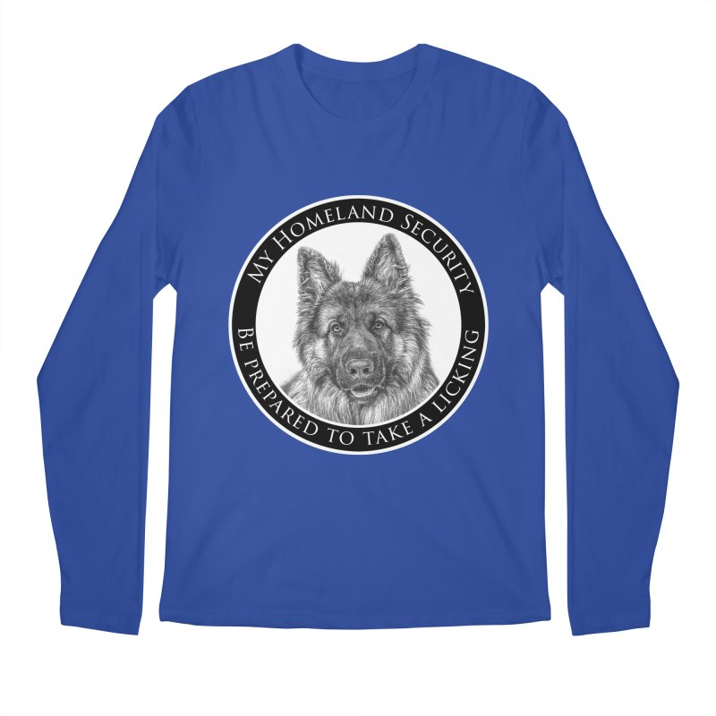 Homeland security licking Men's Regular Longsleeve T-Shirt by Andy's Paw Prints Shop