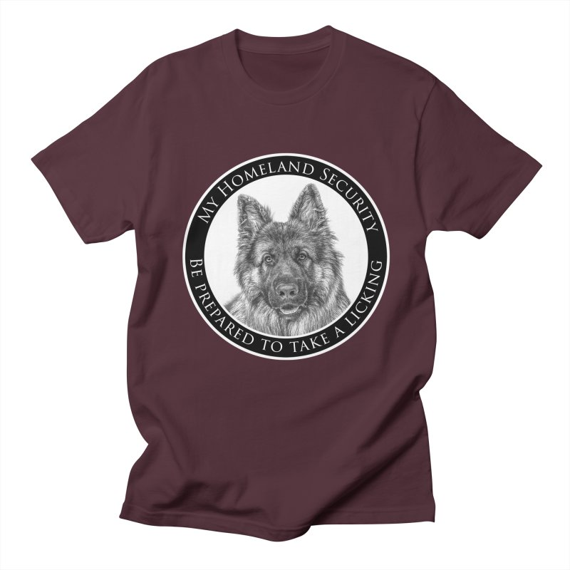 Homeland security licking Women's Regular Unisex T-Shirt by Andy's Paw Prints Shop