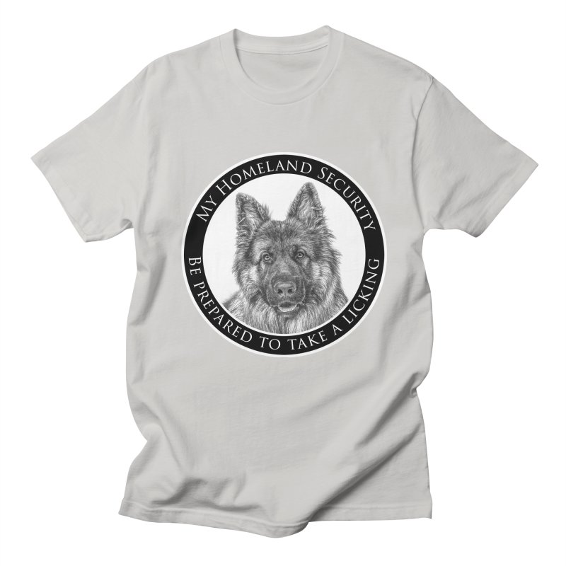 Homeland security licking Men's Regular T-Shirt by Andy's Paw Prints Shop