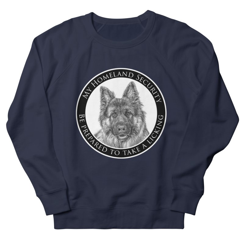 Homeland security licking Men's French Terry Sweatshirt by Andy's Paw Prints Shop