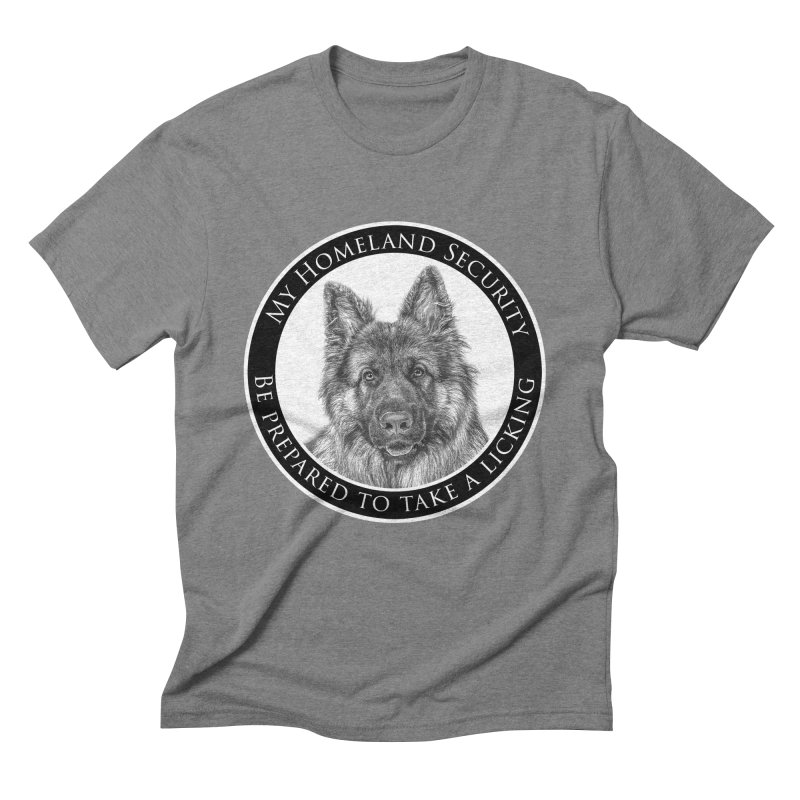 Homeland security licking Men's Triblend T-Shirt by Andy's Paw Prints Shop