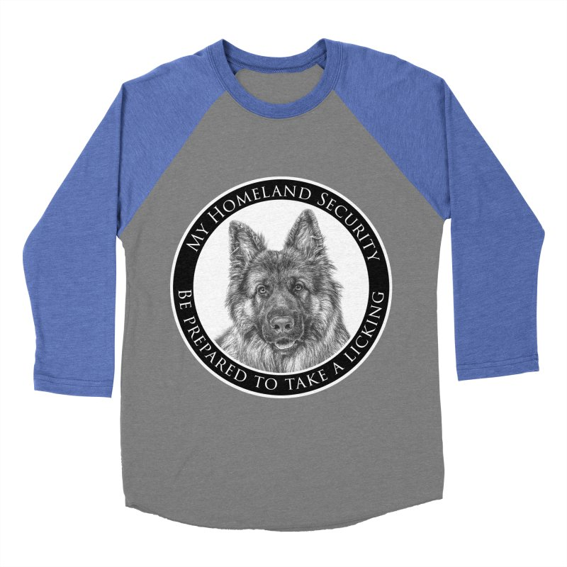 Homeland security licking Women's Baseball Triblend Longsleeve T-Shirt by Andy's Paw Prints Shop