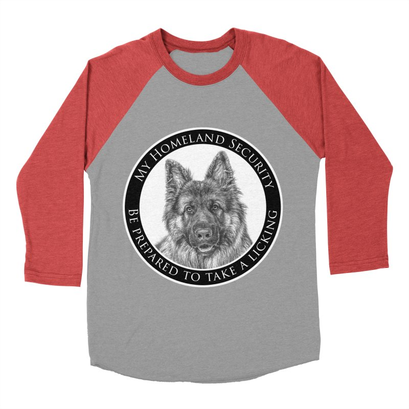 Homeland security licking Men's Baseball Triblend Longsleeve T-Shirt by Andy's Paw Prints Shop