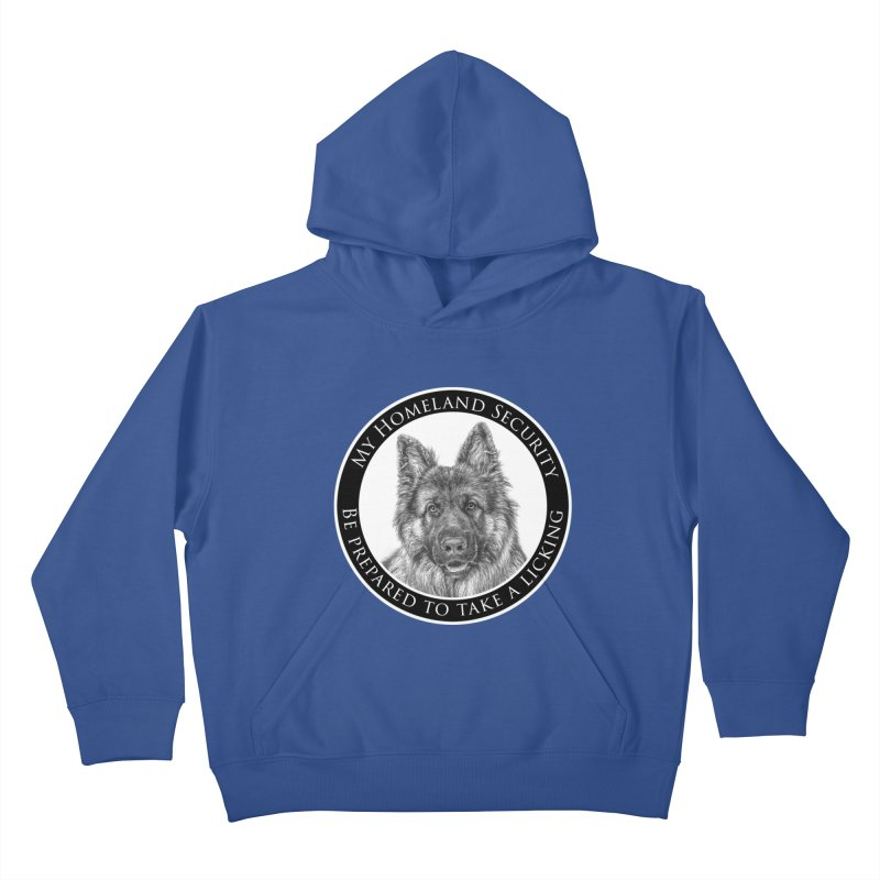 Homeland security licking Kids Pullover Hoody by Andy's Paw Prints Shop