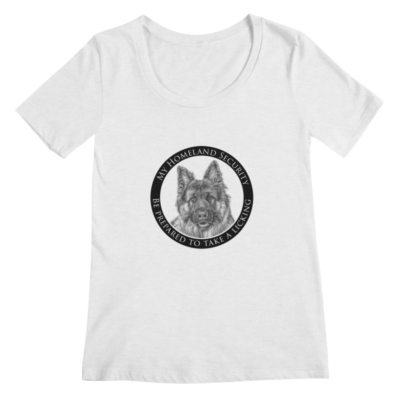 Homeland security licking Women's Regular Scoop Neck by Andy's Paw Prints Shop