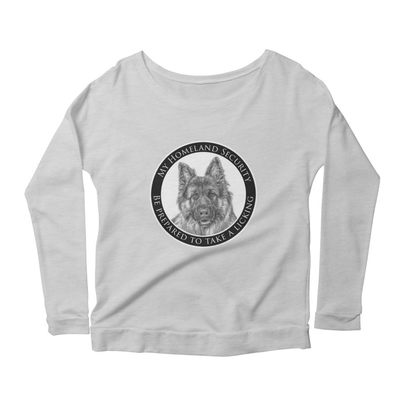 Homeland security licking Women's Scoop Neck Longsleeve T-Shirt by Andy's Paw Prints Shop