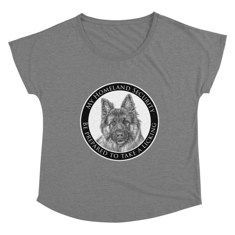Homeland security licking Women's Dolman Scoop Neck by Andy's Paw Prints Shop