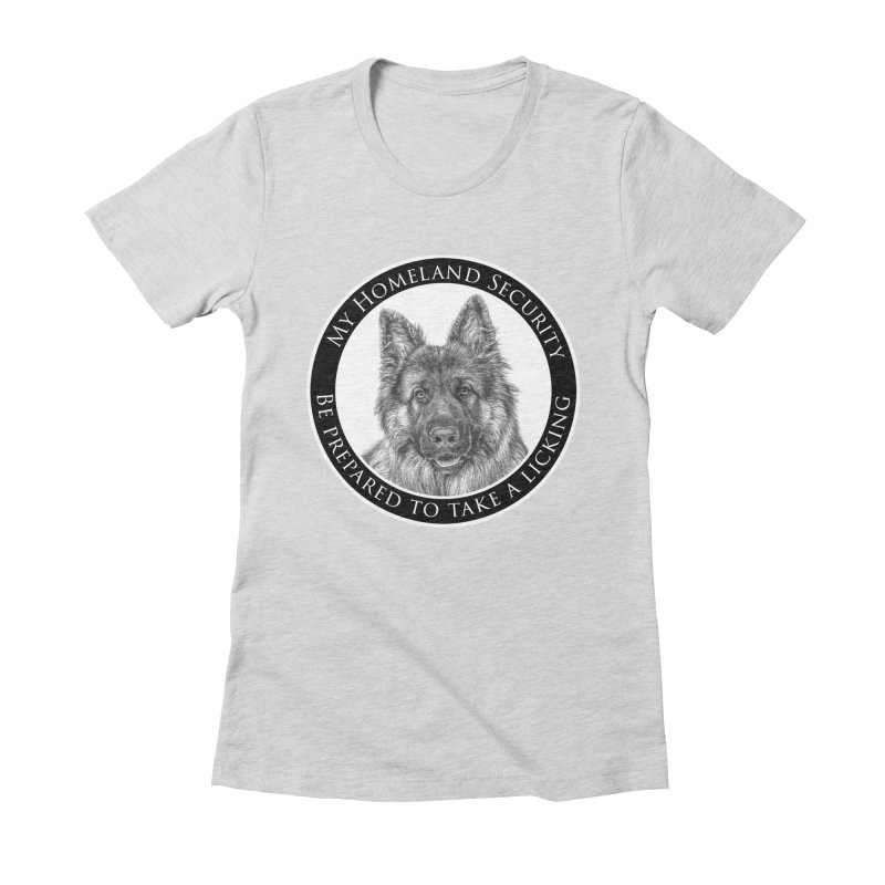 Homeland security licking Women's Fitted T-Shirt by Andy's Paw Prints Shop