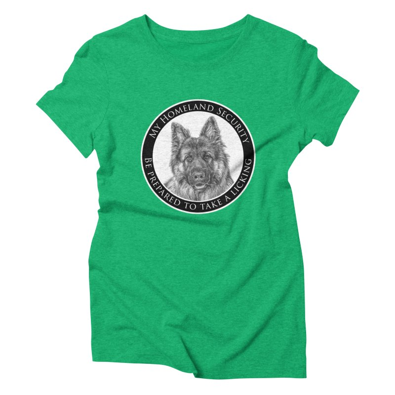 Homeland security licking Women's Triblend T-Shirt by Andy's Paw Prints Shop
