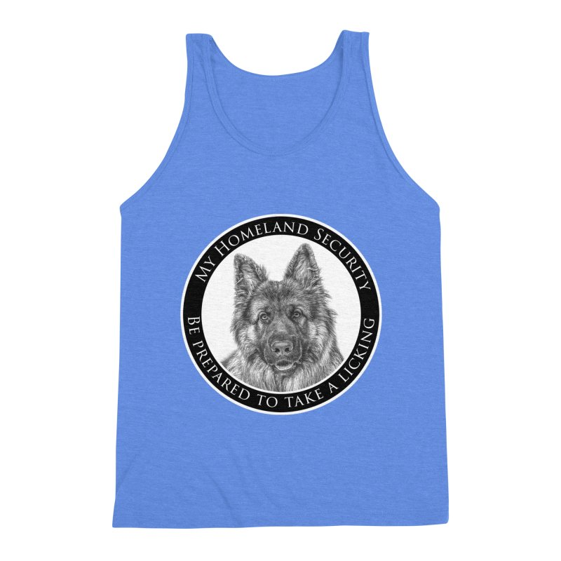 Homeland security licking Men's Triblend Tank by Andy's Paw Prints Shop