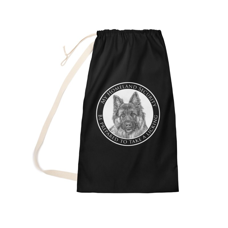 Homeland security licking Accessories Laundry Bag Bag by Andy's Paw Prints Shop