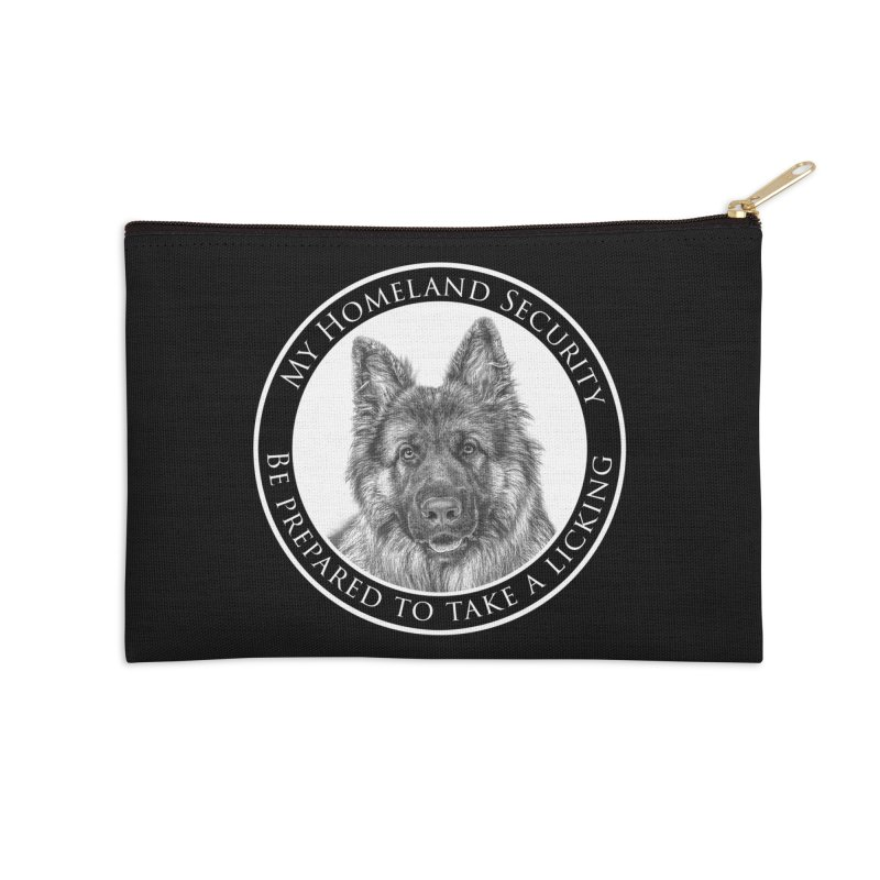 Homeland security licking Accessories Zip Pouch by Andy's Paw Prints Shop