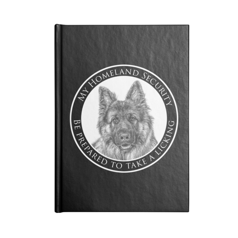 Homeland security licking Accessories Lined Journal Notebook by Andy's Paw Prints Shop