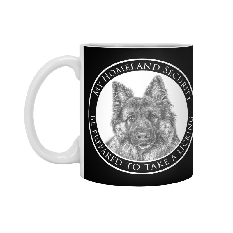 Homeland security licking Accessories Mug by Andy's Paw Prints Shop