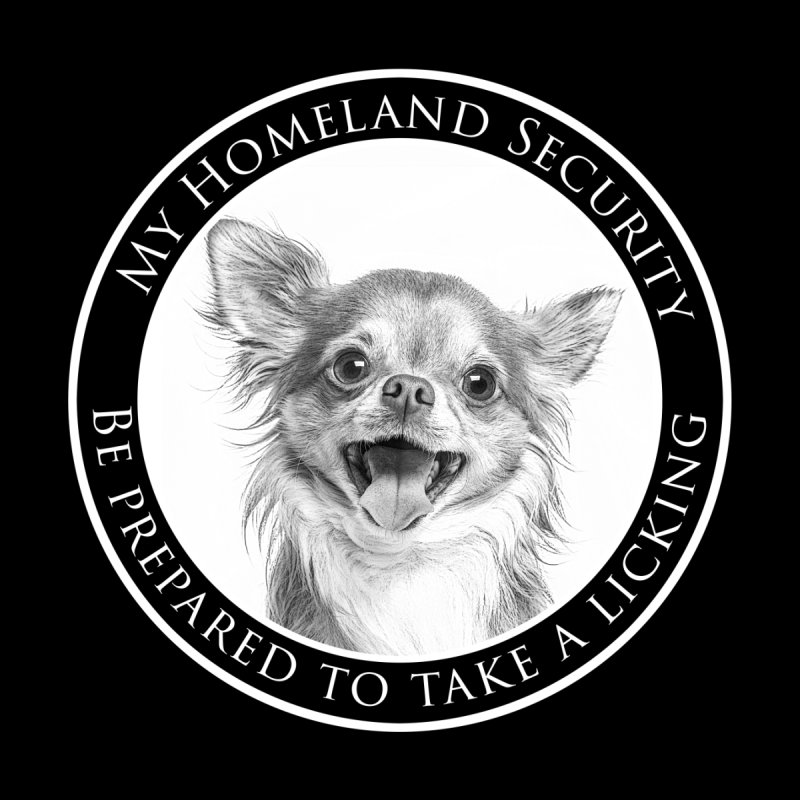 Homeland security Chihuahua Men's V-Neck by Andy's Paw Prints Shop