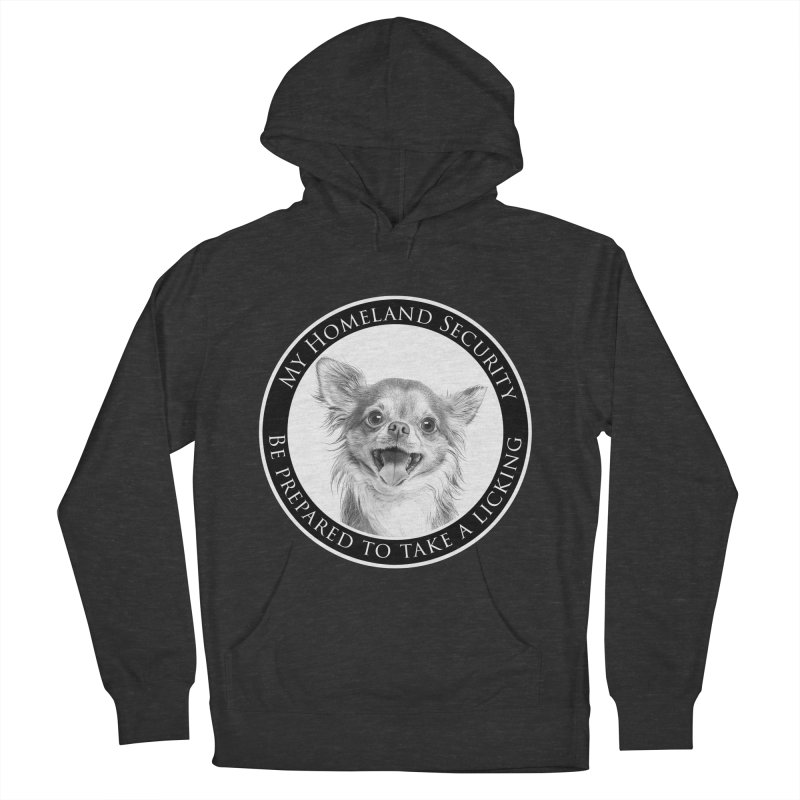 Homeland security Chihuahua Men's French Terry Pullover Hoody by Andy's Paw Prints Shop