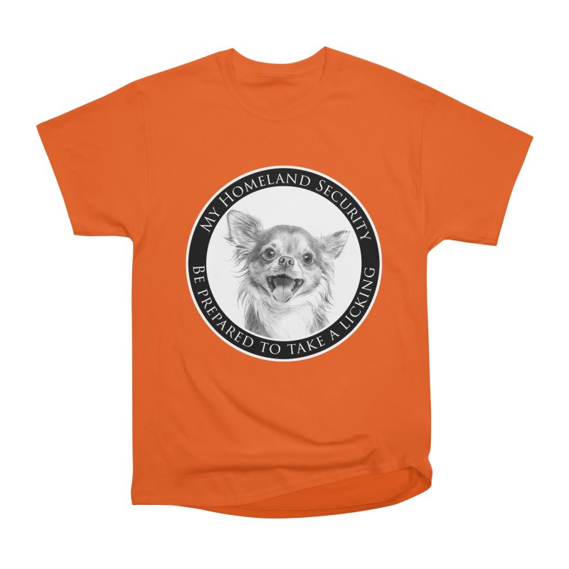 Homeland security Chihuahua Men's Heavyweight T-Shirt by Andy's Paw Prints Shop