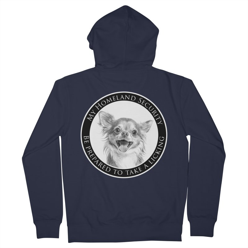Homeland security Chihuahua Women's French Terry Zip-Up Hoody by Andy's Paw Prints Shop