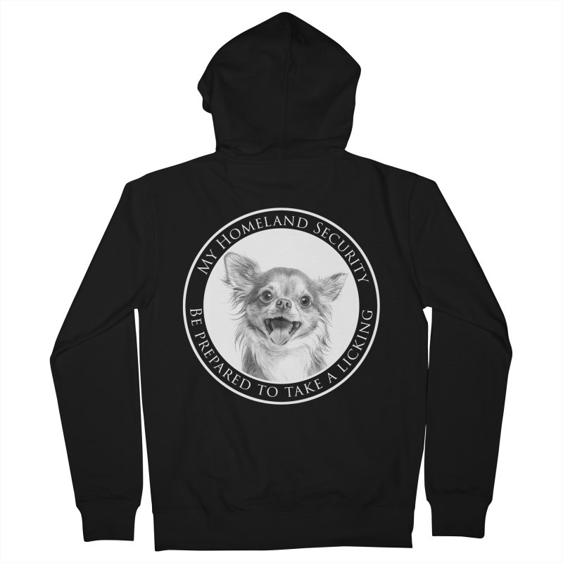 Homeland security Chihuahua Men's French Terry Zip-Up Hoody by Andy's Paw Prints Shop