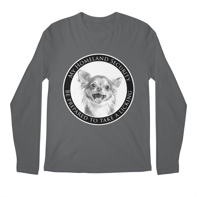 Homeland security Chihuahua Men's Regular Longsleeve T-Shirt by Andy's Paw Prints Shop
