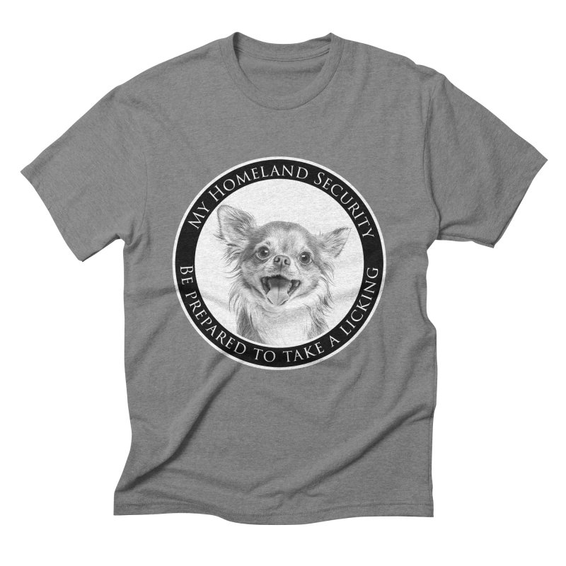 Homeland security Chihuahua Men's Triblend T-Shirt by Andy's Paw Prints Shop