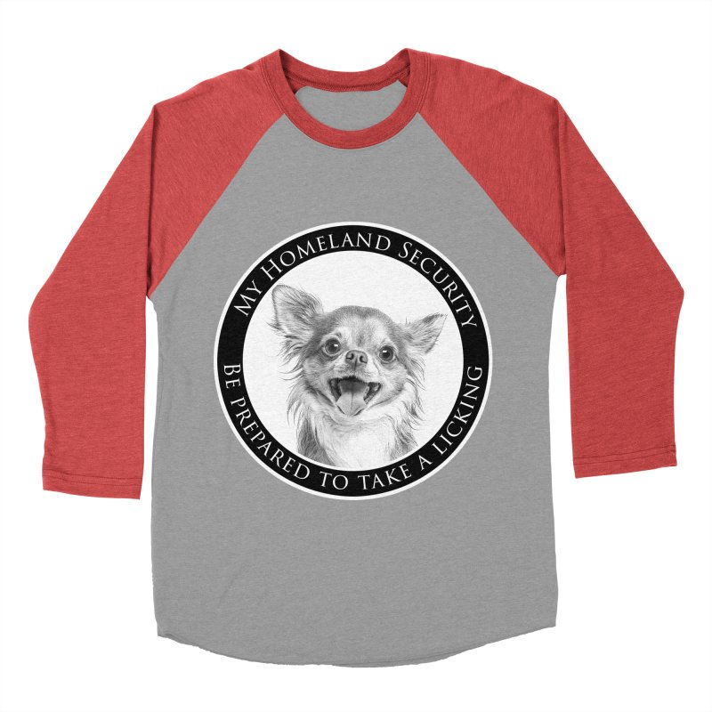 Homeland security Chihuahua Women's Baseball Triblend Longsleeve T-Shirt by Andy's Paw Prints Shop