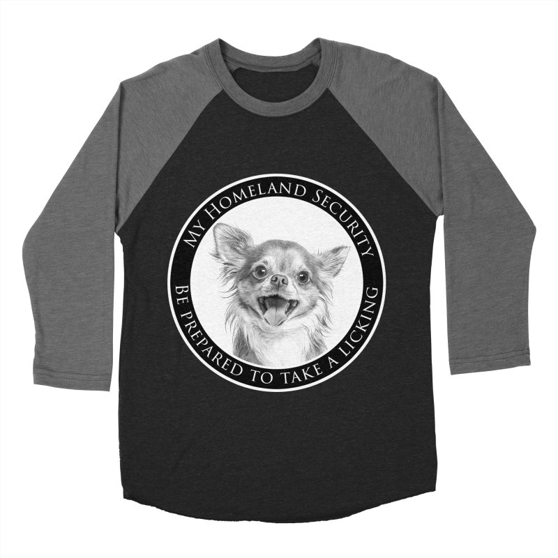 Homeland security Chihuahua Men's Baseball Triblend Longsleeve T-Shirt by Andy's Paw Prints Shop